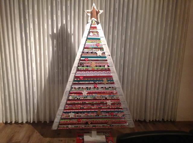 trots - kerstboom  - kerst - plantplezier - zelfgemaakte boom